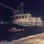 Lady D rots in the harbour and has yet to be removed!