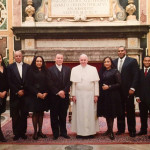 McWeeney presents credentials to Pope Francis