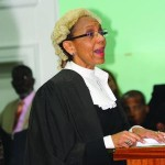 Attorney General Madam Allyson Maynard-Gibson spoke to Swift Justice, Safty and Freedom at opening of Legal Year...
