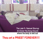 Canon Samuel Sturrup funeral is set for this week….