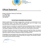 Bahamas Education advises on BJC Paper 2 Examination Security Breach