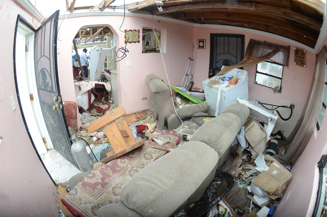 Pittstown home after Hurricane Joaquin