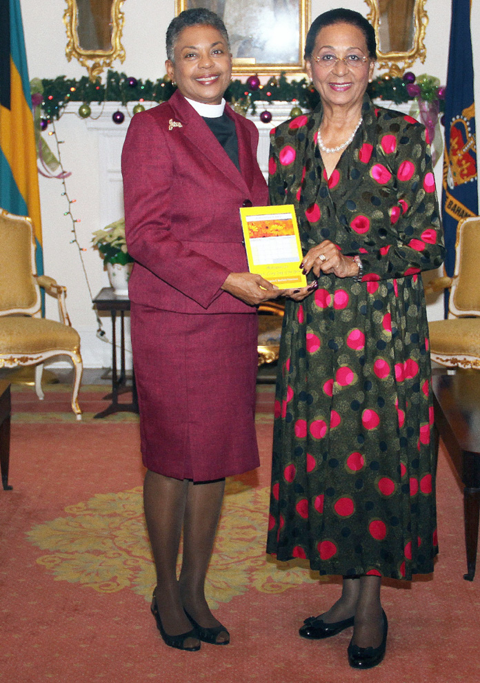 Governor General Dame Marguerite Pindling and Rev. Angela Palacious.