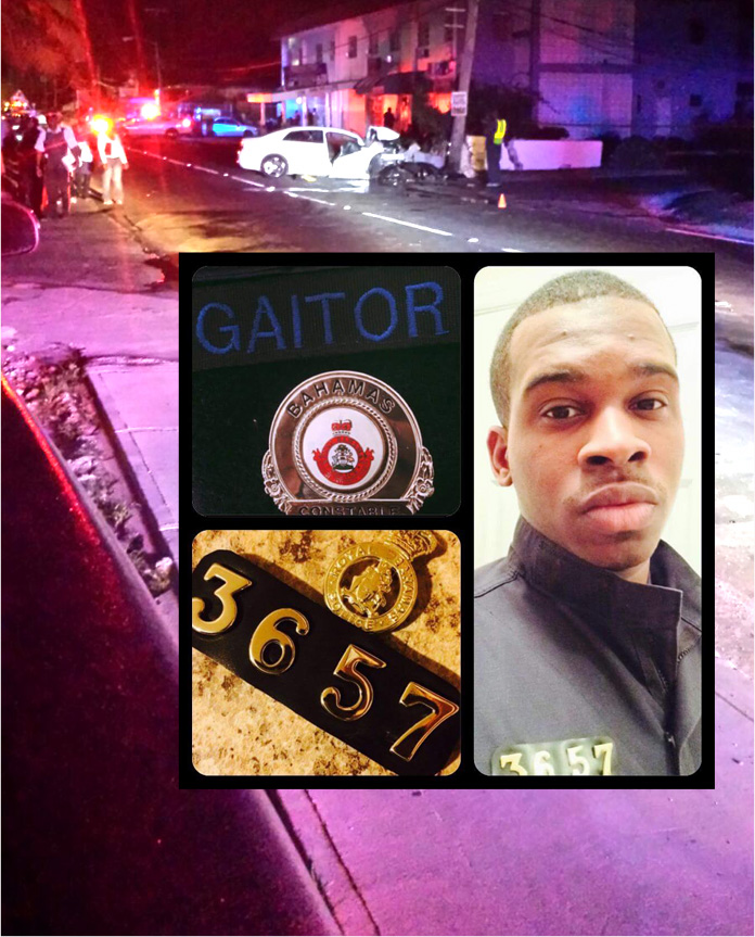 Officer 3567 Gaitor and scenes from that morning mishap which took his life this morning. BE SAFE PEOPLE!