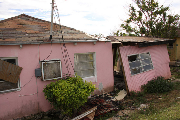 A home in San Salvador completely destroyed by Hurricane Joaquin.