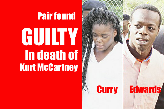 Lyndera Curry and Thorne Edwards found guilty in the murder of businessman Richard Kurt McCartney.