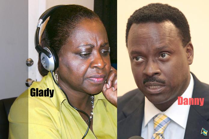 Former Ambassador Gladys Johnson Sands and Minister of Culture Dr. Daniel Johnson.