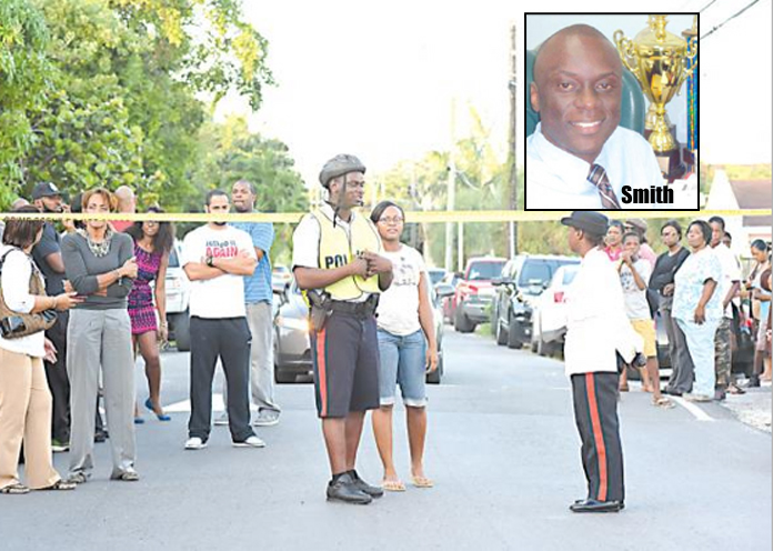 The scene on St. Albans Drive on December 21st, 2015 as police discovered the lifeless body of Devince Smith inside his bloody apartment.