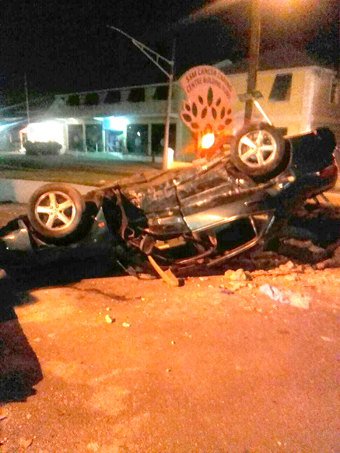 Accident just in front of Doctors Hospital last night!