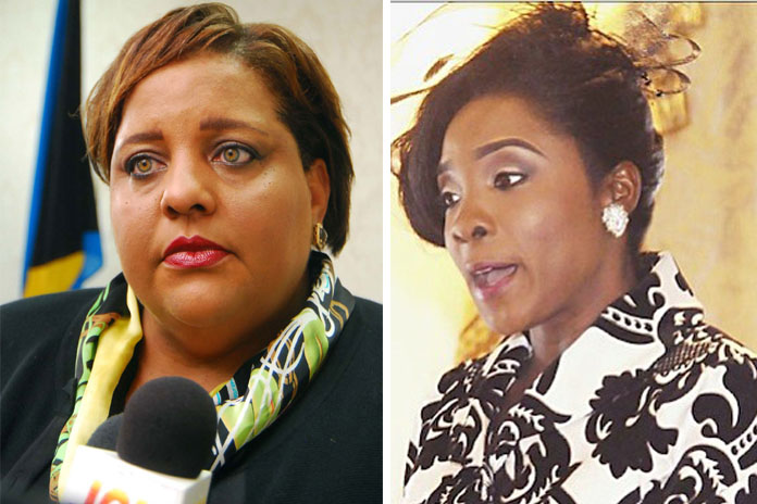 FNM Parliamentarians Loretta Butler-Turner and Lanisha Rolle.