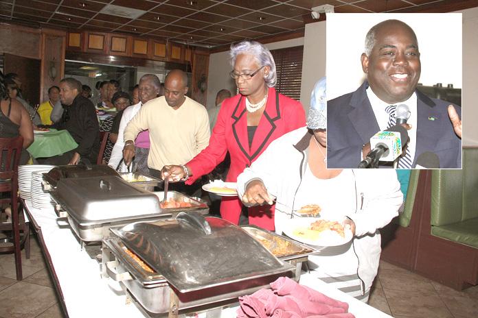 Deputy Prime Minister Hon. Philip Brave Davis celebrate Straw Vendors.