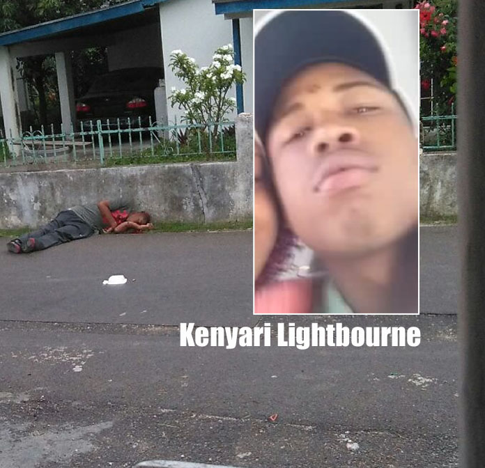 Kenyari Lightbourne is this morning's homicide victim on Woods Alley Tuesday morning.