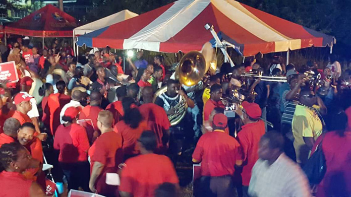 Massive crowds show up to support Dr. Minnis on Grand Bahama Saturday night.