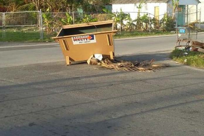 Bahamas waste please collect yinner bin - Rd rubbish bin ...