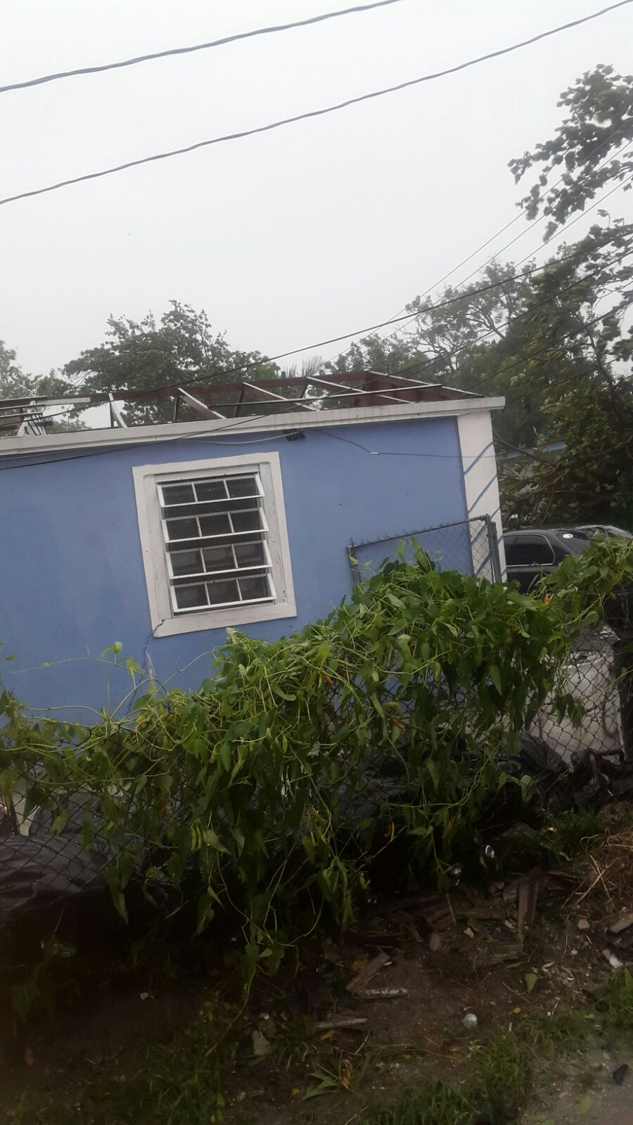 Major Damage And Flood In New Providence Bahamas Following