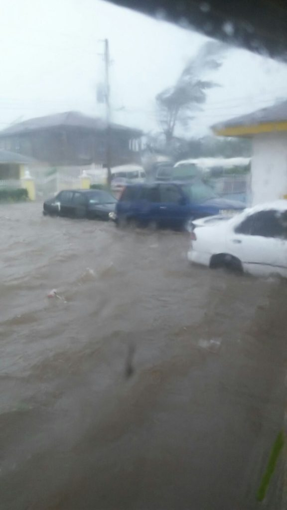 Major Damage And Flood In New Providence Bahamas Following