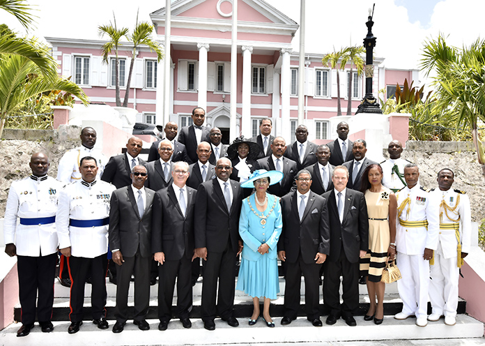 Official Opening of Parliament – Cabinet Ministers Photographed With The Governor General