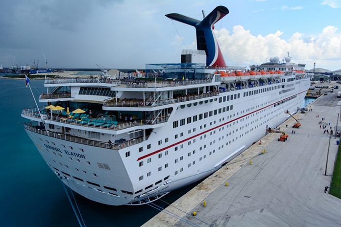 MURDER ON THE CRUISE SHIP DOCKED IN FREEPORT BAHAMAS - Docked cruise ship