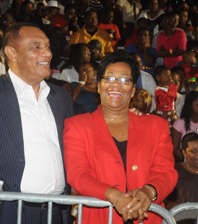 Rt. Hon. Perry Christie and wife for former PM Deloris Ingraham!
