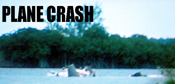 The wreckage of the Cessna 402 aircraft crashed in lake Killarney earlier today.