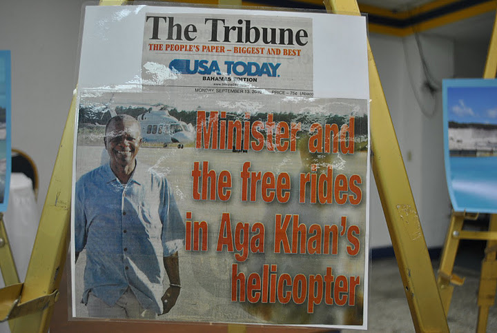 Earl Deveaux and the scandalous helicopter ride in the Aga Khan luxury Helicopter to Abaco.