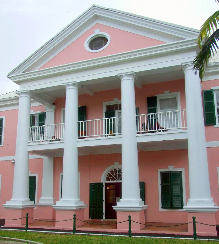 The Supreme Court building in downtown Nassau.