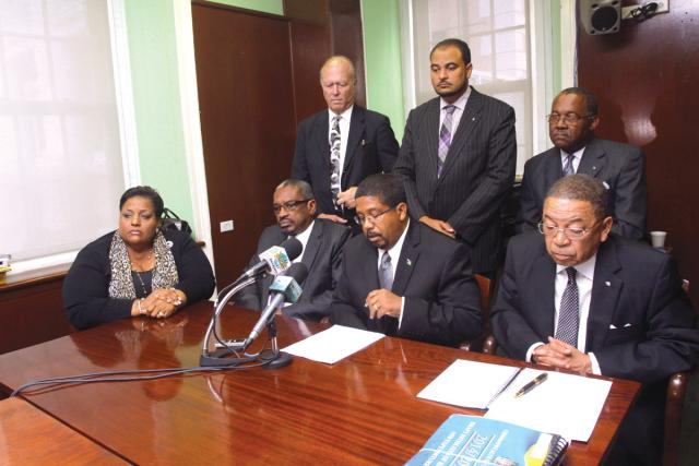 OPPOSITION MEMBERS PRESS CONFERENCE - FILE PHOTO.