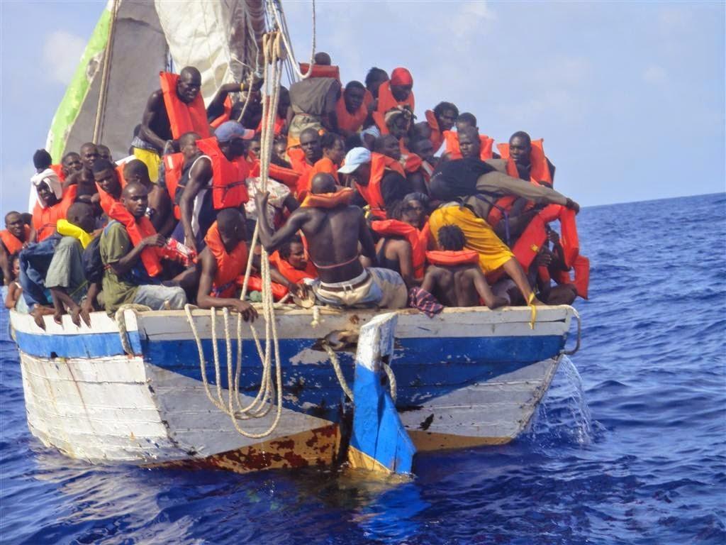 file photo of Haitian Migrants on a sloop...