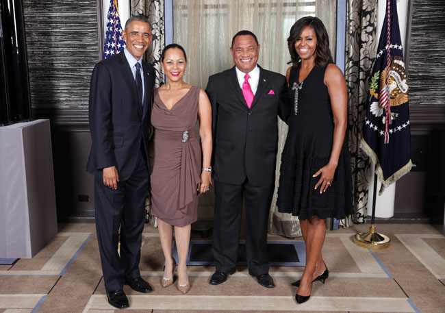 The Christies meet the Obamas at dinner in New York ....