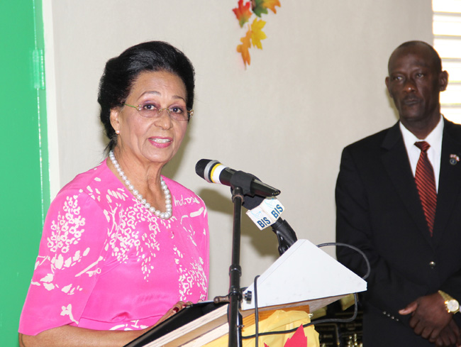 Her Excellency Dame Marguerite Pindling, Governor General, addressed the luncheon guests.