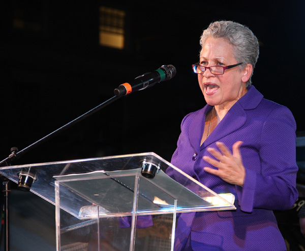 Minister of Transport & Aviation the Hon. Glenys Hanna-Martin.