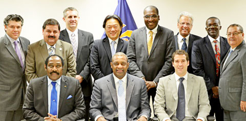 The CONCACAF Finance Committee when it was formed in December 2012.