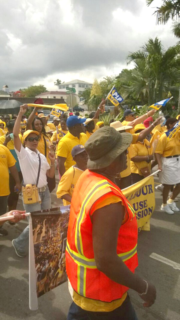 Support by the PLP proved they stand alongside workers in the country!