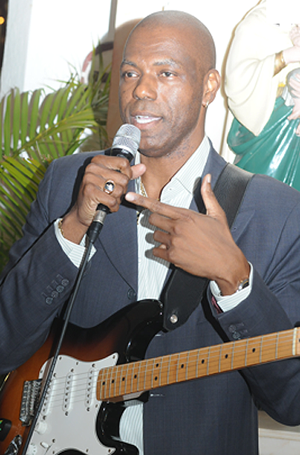 Bahamian musician Fred Ferguson told he must go cut grass until Bahamar gets back up and running.