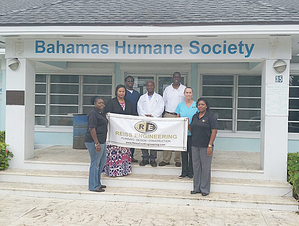 REL-Charmaine Musgrove (holding the sign) REL-Earnestine Hepburn ( black sweater- colorful dress) Ventori Vethne- Inspector (blue scrubs) Dr. Soloman Kwakye (white Doctors Coat) Percy Grant  Shelter Manager (white shirt with glasses) Fiona Fraser Adoption Coordinator (in the aqua scrubs) REL -Mercier Banister (holding the sign)