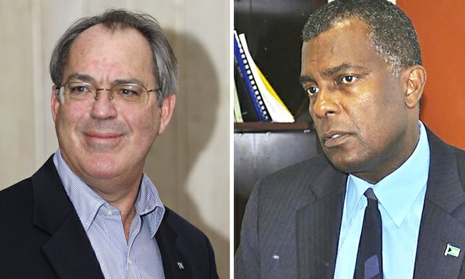 Brent Symonette and Fred Mitchell. Brent Symonette and Fred Mitchell.
