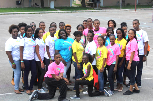Pictured: Students wear their BTC tee-shirts as they gear up for their first year of college at the College of the Bahamas freshman orientation.