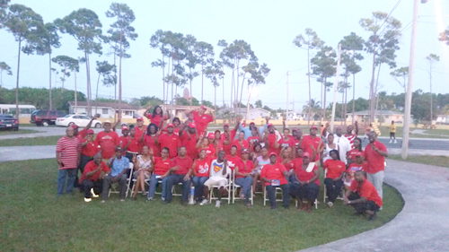 FNMS on the groiund in Grand Bahama over the weekend.