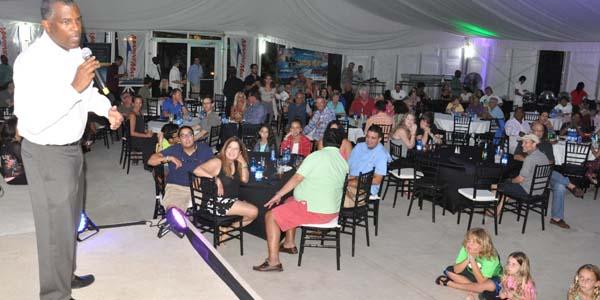 Minister Mitchell addresses South Florida boaters at Resorts World Bimini.  (BIS Photo/Vandyke Hepburn)