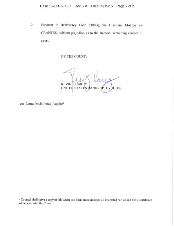 Order re Motions to Dismiss2
