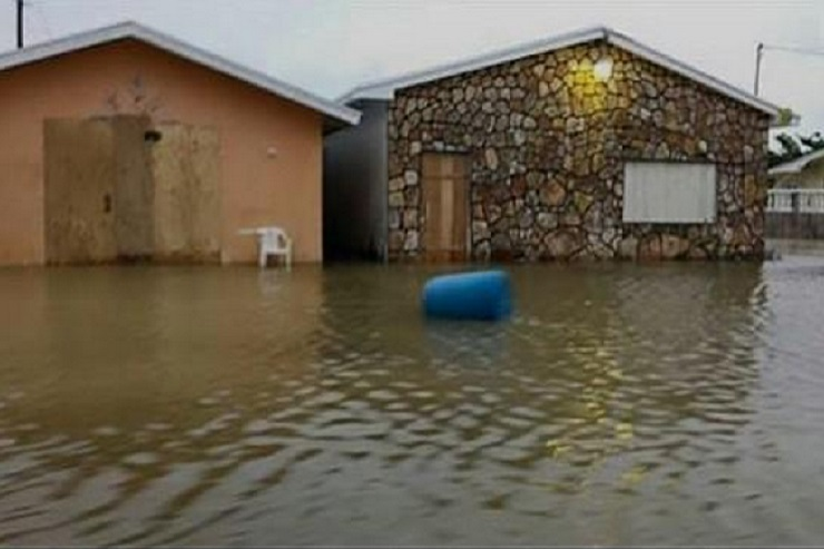 Flooding in Long Island, Bahamas. (Photo from Ken Bodnar's Twitter page)