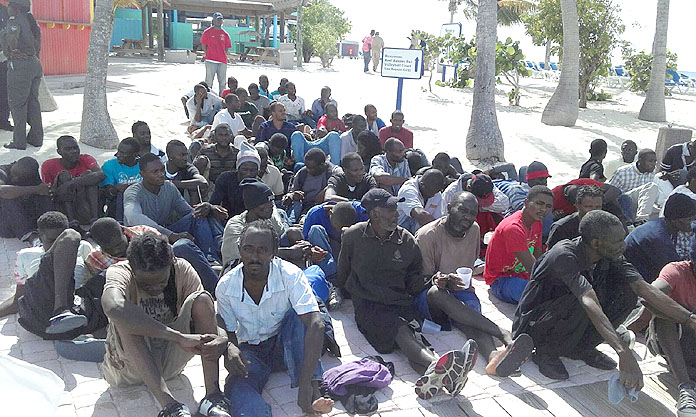 More than 100 illegal Haitian Migrants apprehended on Eleuthera. Is this why there are no jobs, spaces in the classroom or beds in the hospital in the Bahamas?