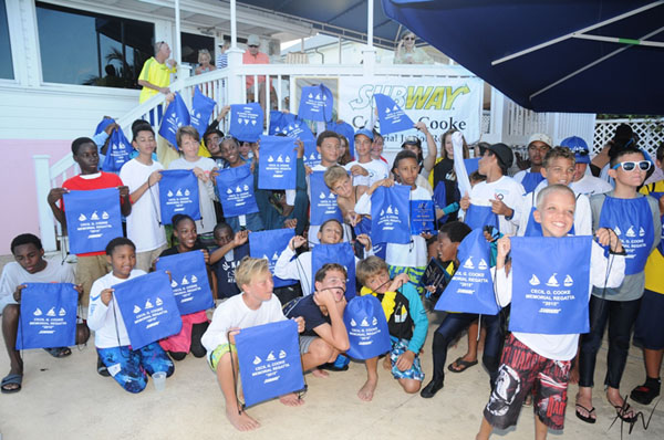 The junior sailors with their race kits. - Photos by Ana Elisa Wassitsch.