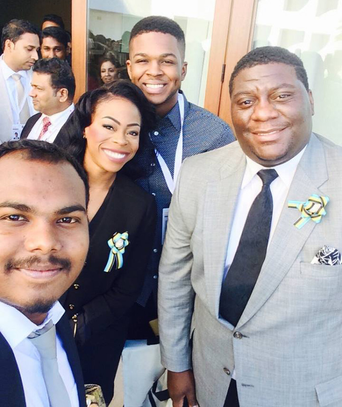 Bahamas National Youth Council and National Delegate Ms. Tamar Moss, Mr. Shaquille Knowles and Mr. Andril Aranha represented the Bahamas.