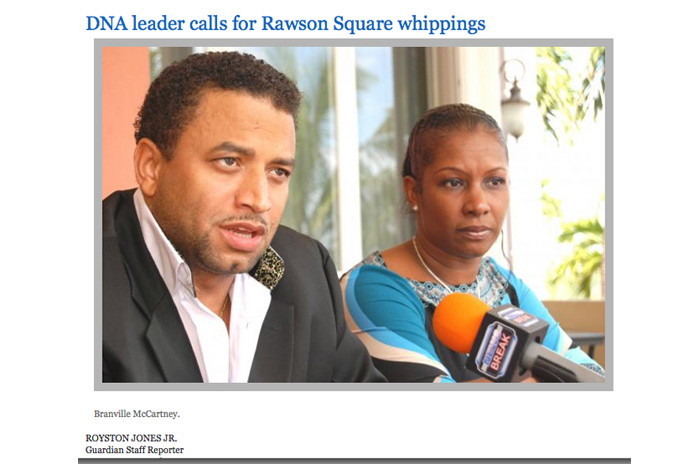 The Jan. 9th, 2014 edition of the Nassau Guardian reminds us all that Branville McCartney also wants flogging! But the Press OMITTED HIS VIEWS THIS PAST WEEK! INTERESTING!!!!