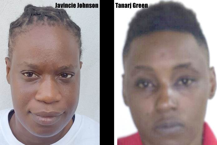 Javincie Johnson and Tanarj Greene now in police custody for that terror shooting incident in Westridge on Monday morning.