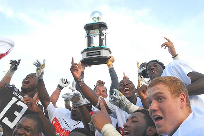 Western Michigan Broncos wins the POPEYES BOWL in Nassau Bahamas
