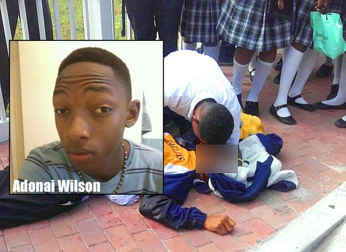 Doris Johnson student Adonai Wilson stabbed to death yesterday.