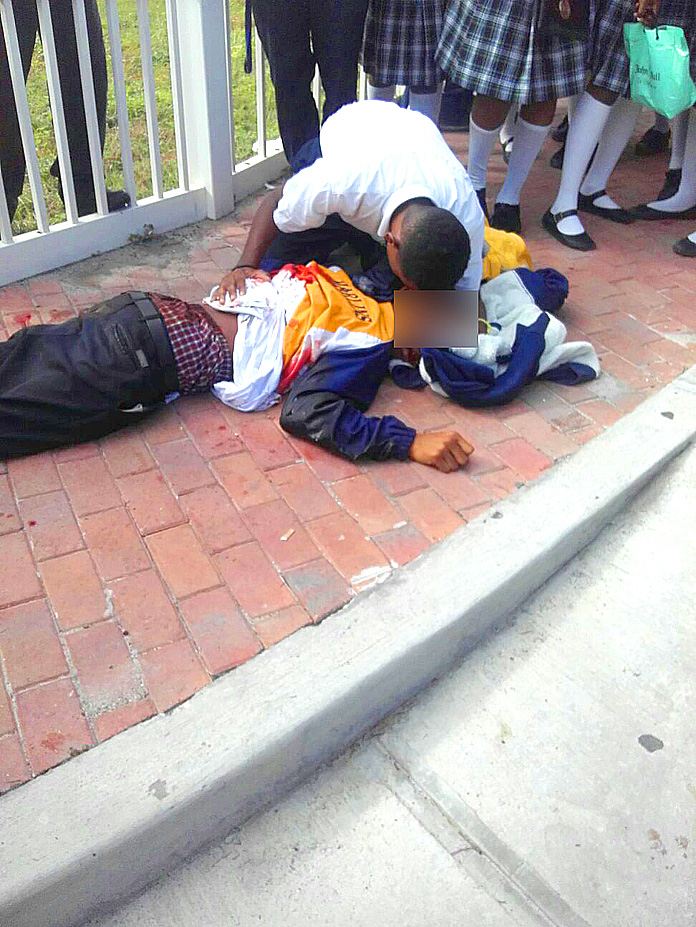 Doris Johnson Student stabbed to death on Prince Charles Drive opposite Blanco Bleach.