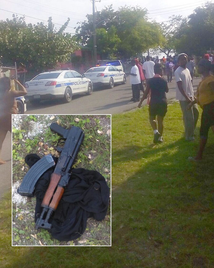 Police in Montell Heights today after they caught a man known to them with an AK-47 shooting down people in the streets!